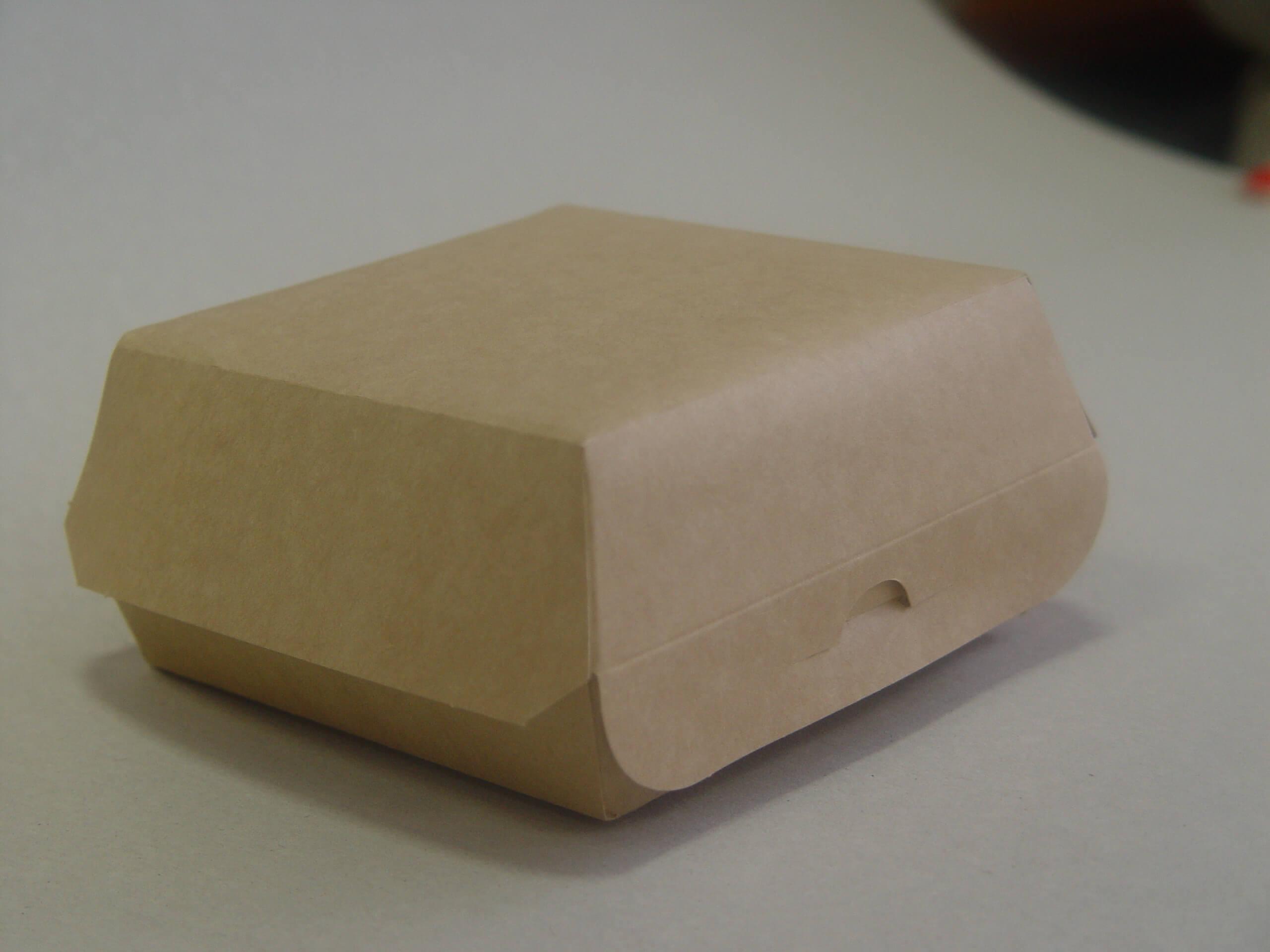 Коробка для бургера 120*120*70 мм Эко Лайн