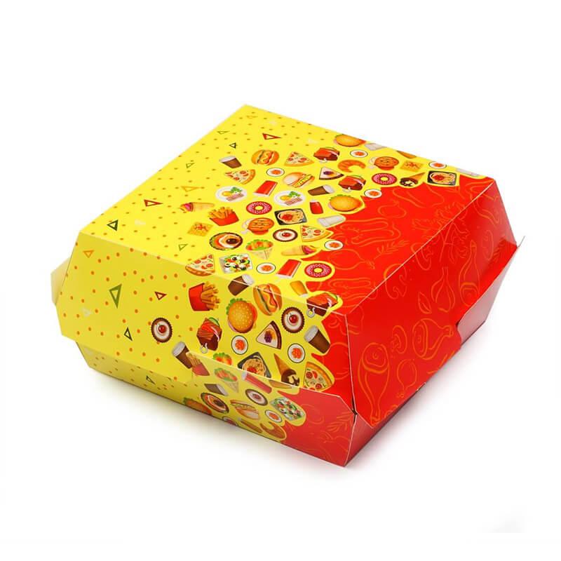 Коробка для бургера. 120х120х70 мм.