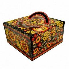 Коробка для торта Русская хохлома